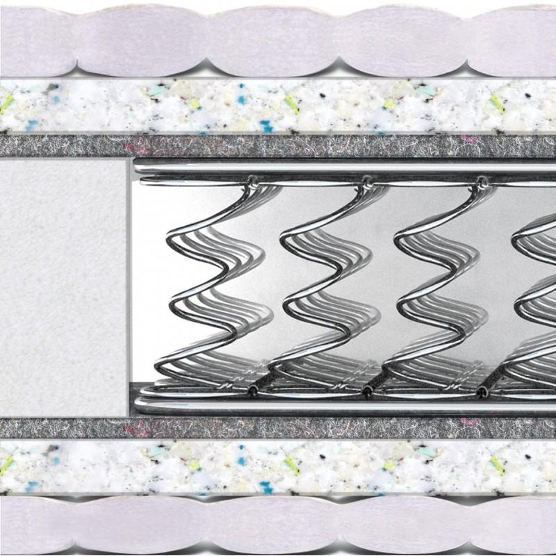 Матрас Комфорт плюс HARD (двусторонний) с 2-мя рамами из стали
